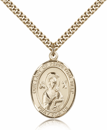 Gold Filled Our Lady of Perpetual Help Pendant