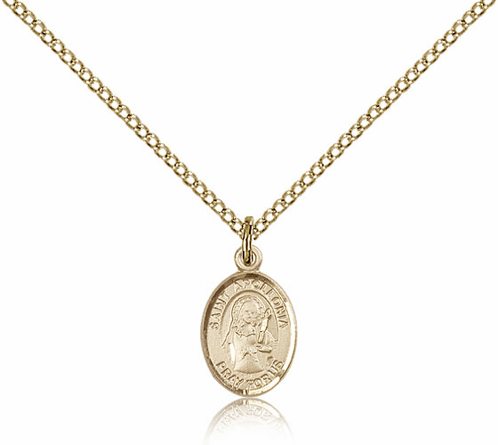Bliss Mfg Gold Filled St. Apollonia Patron Saint Medal