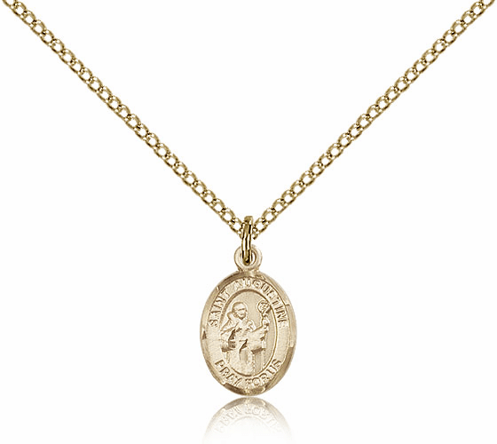 Bliss Mfg Gold Filled St. Augustine Patron Saint Medal Necklace