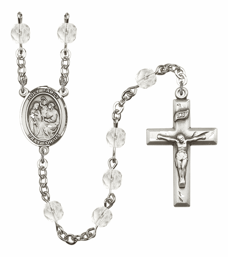 Bliss Mfg Holy Family April - Crystal Birthstone Rosary