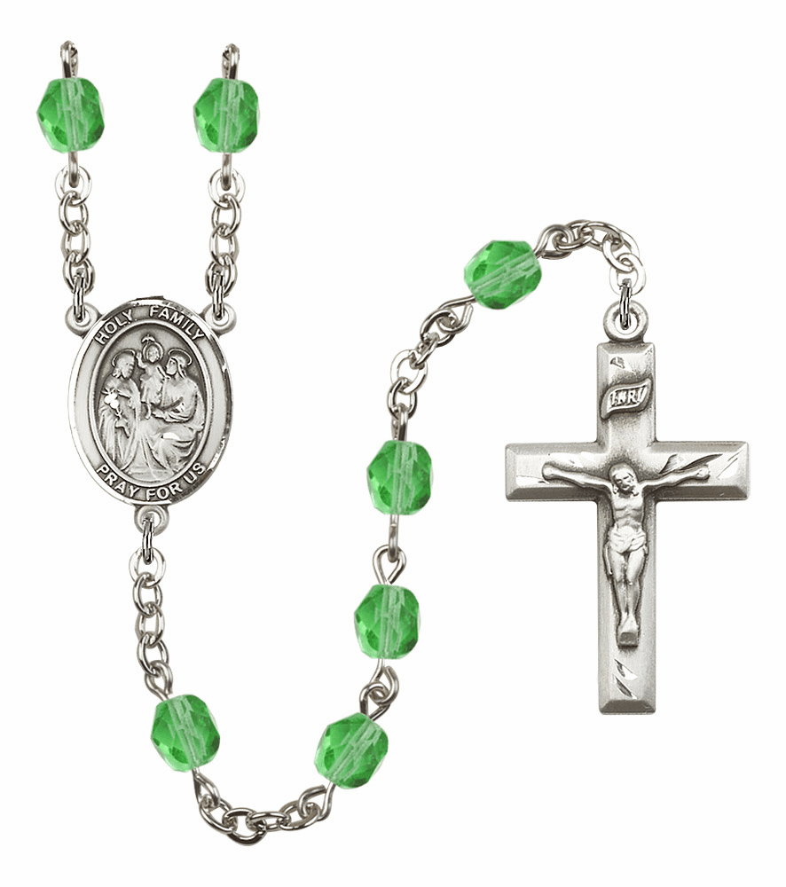 Bliss Mfg Holy Family August Peridot Birthstone Rosary
