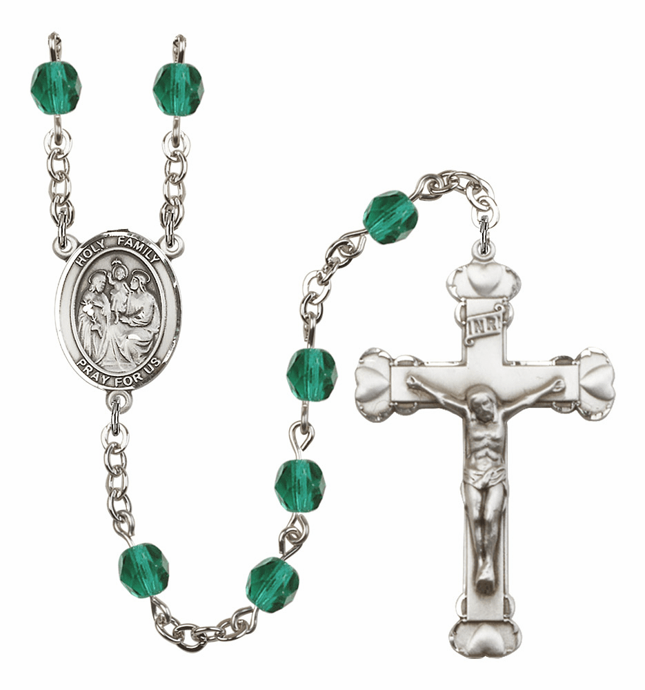 Bliss Mfg Holy Family December Zircon Birthstone Heart Rosary