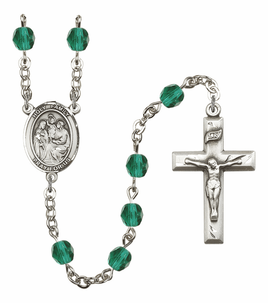 Bliss Mfg Holy Family December Zircon Birthstone Rosary
