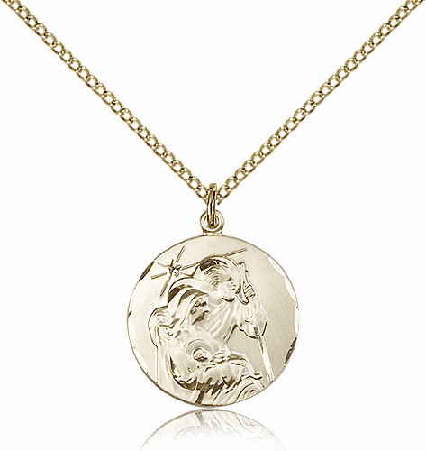 Bliss Mfg Holy Family Gold Filled Pendant Necklace