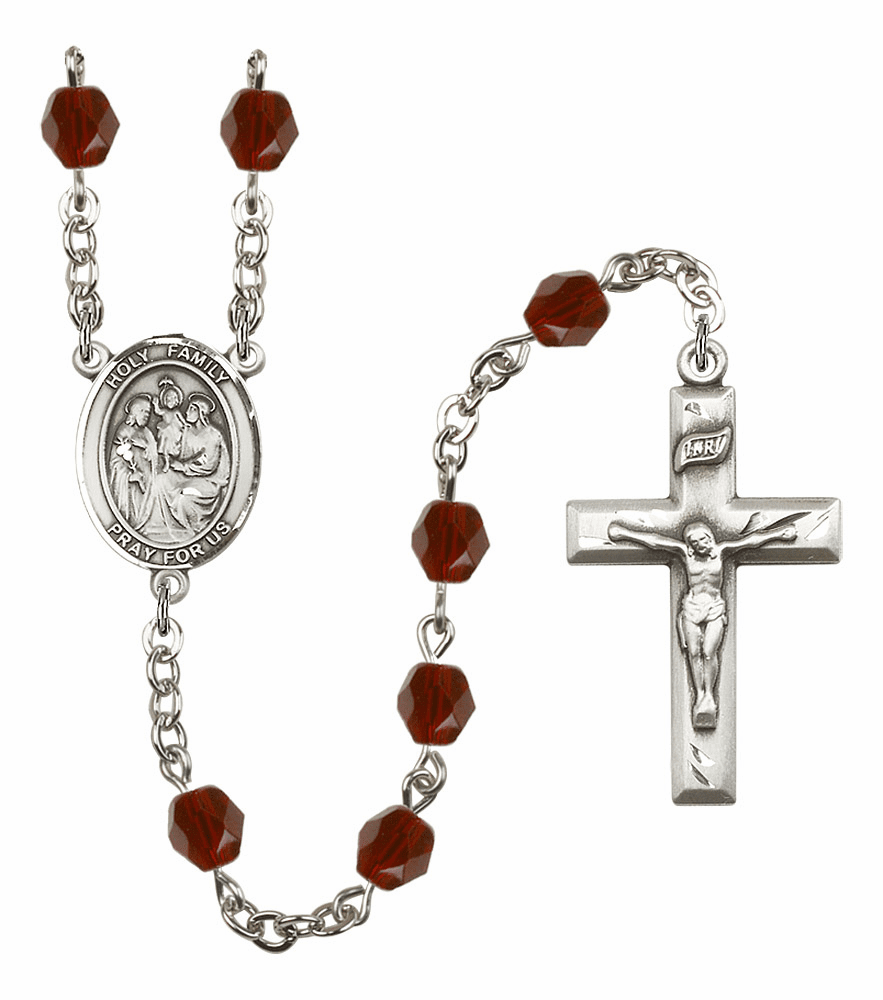 Bliss Mfg Holy Family January Garnet Birthstone Rosary