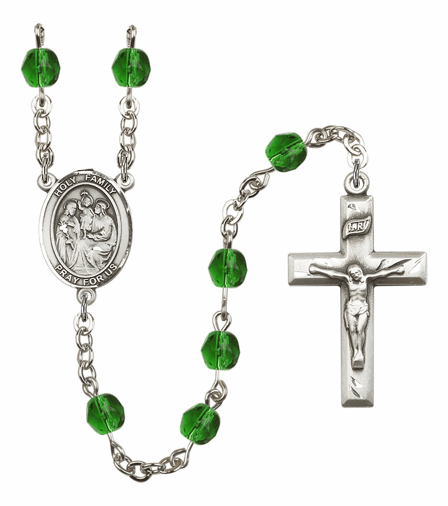 Bliss Mfg Holy Family May Emerald Birthstone Rosary