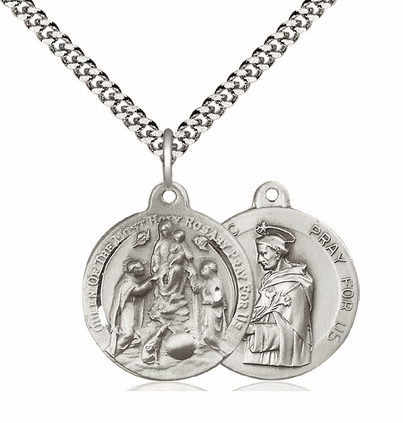Bliss Holy Rosary and St Dominic Medal Necklace
