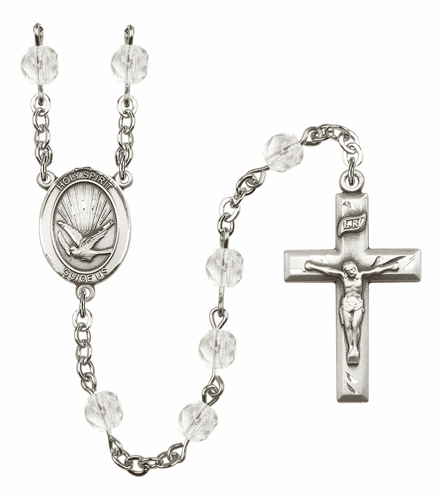 Bliss Mfg Holy Spirit April Crystal Birthstone Crystal Prayer Rosary