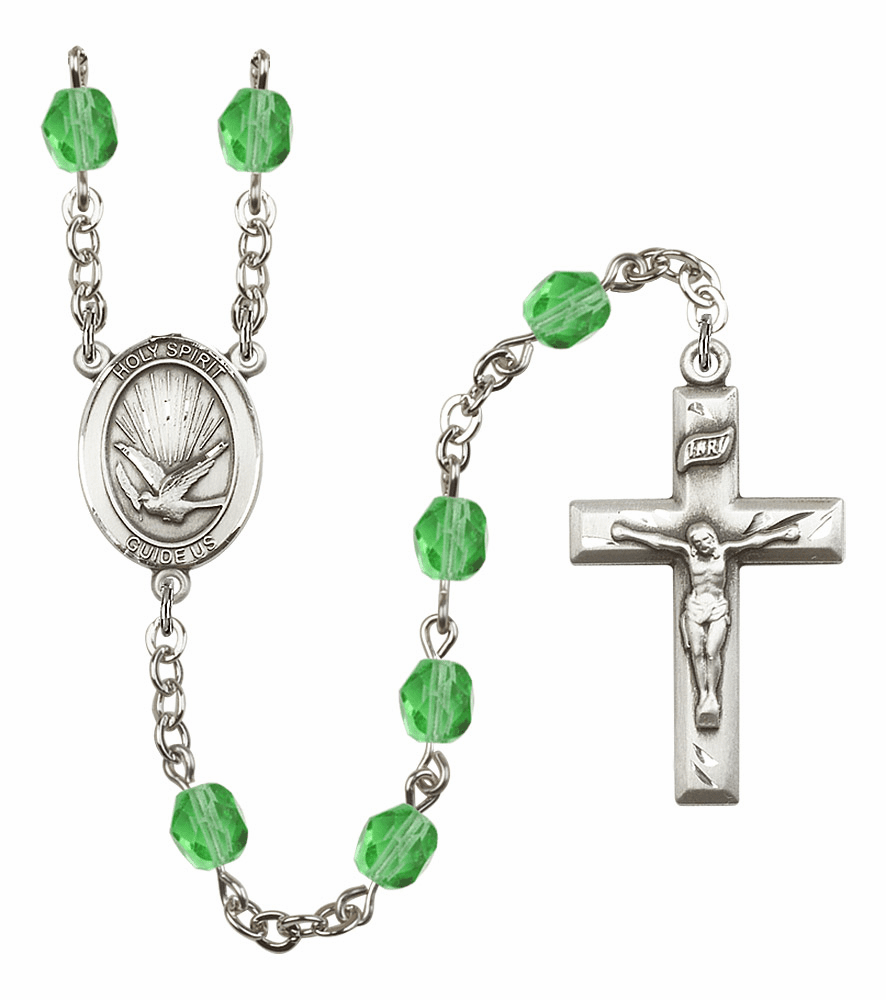 Bliss Mfg Holy Spirit August Peridot Birthstone Crystal Prayer Rosary