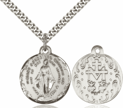 Bliss Immaculate Conception Sterling Medal Necklace