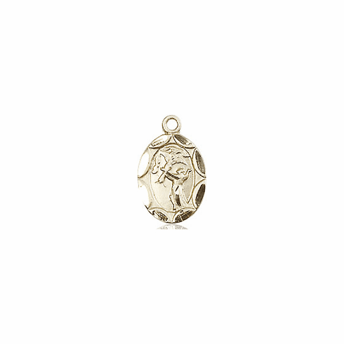 Bliss Mfg Infant/Baby Francis of Assisi 14kt Gold Medal Pendant