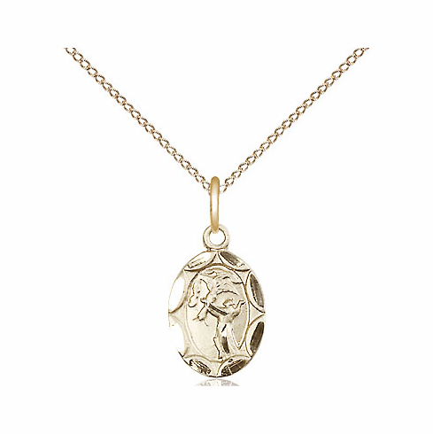 Bliss Mfg Infant/Baby Francis of Assisi Gold Filled Medal Pendant