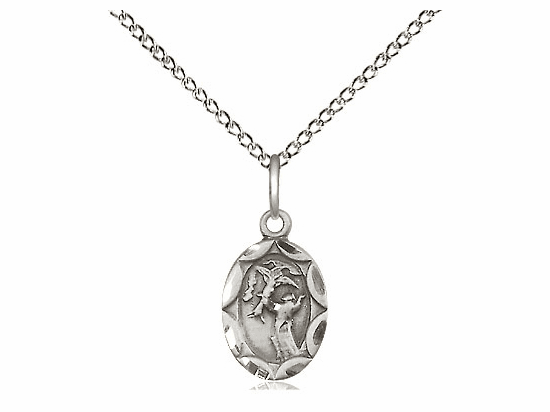 Bliss Mfg Infant/Baby Francis of Assisi Sterling Silver Medal Pendant