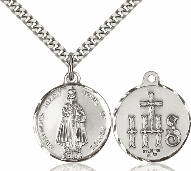 Bliss Infant of Prague and Children and Schools Medal Necklace