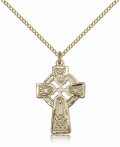 Bliss Mfg Irish Celtic Cross Gold-filled Pendant w/18 inch Plated Chain