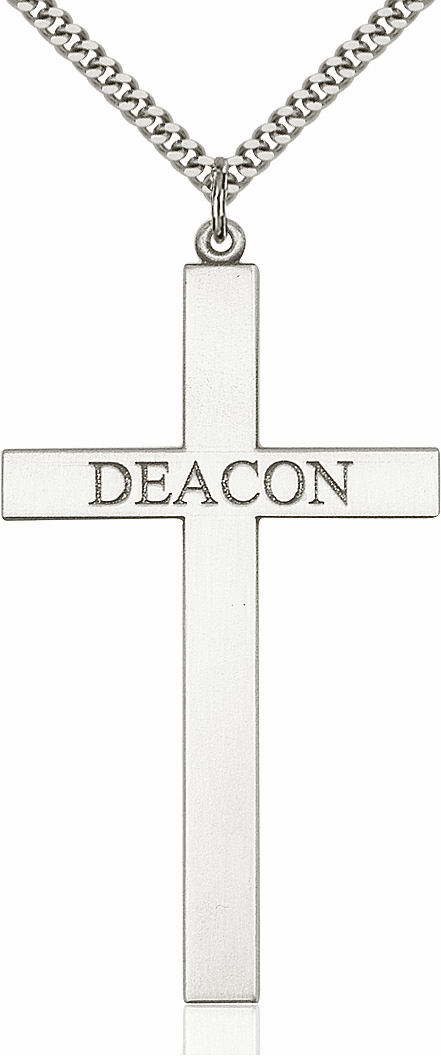 Bliss Mfg Large Church Deacon Cross Necklace