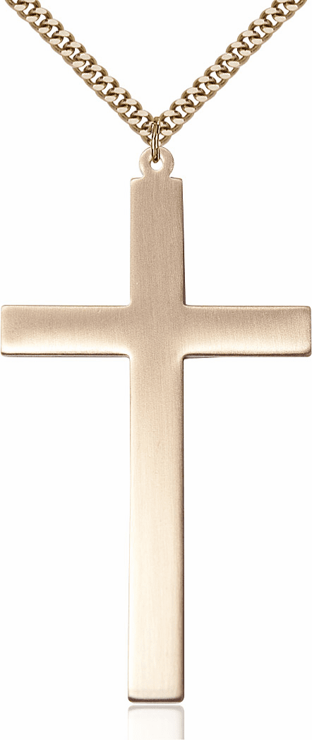 Bliss Mfg Large Gold-filled Christian Church Cross Necklace
