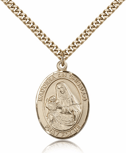 Bliss Mfg Madonna Del Ghisallo Gold Filled Catholic Pendant Necklace
