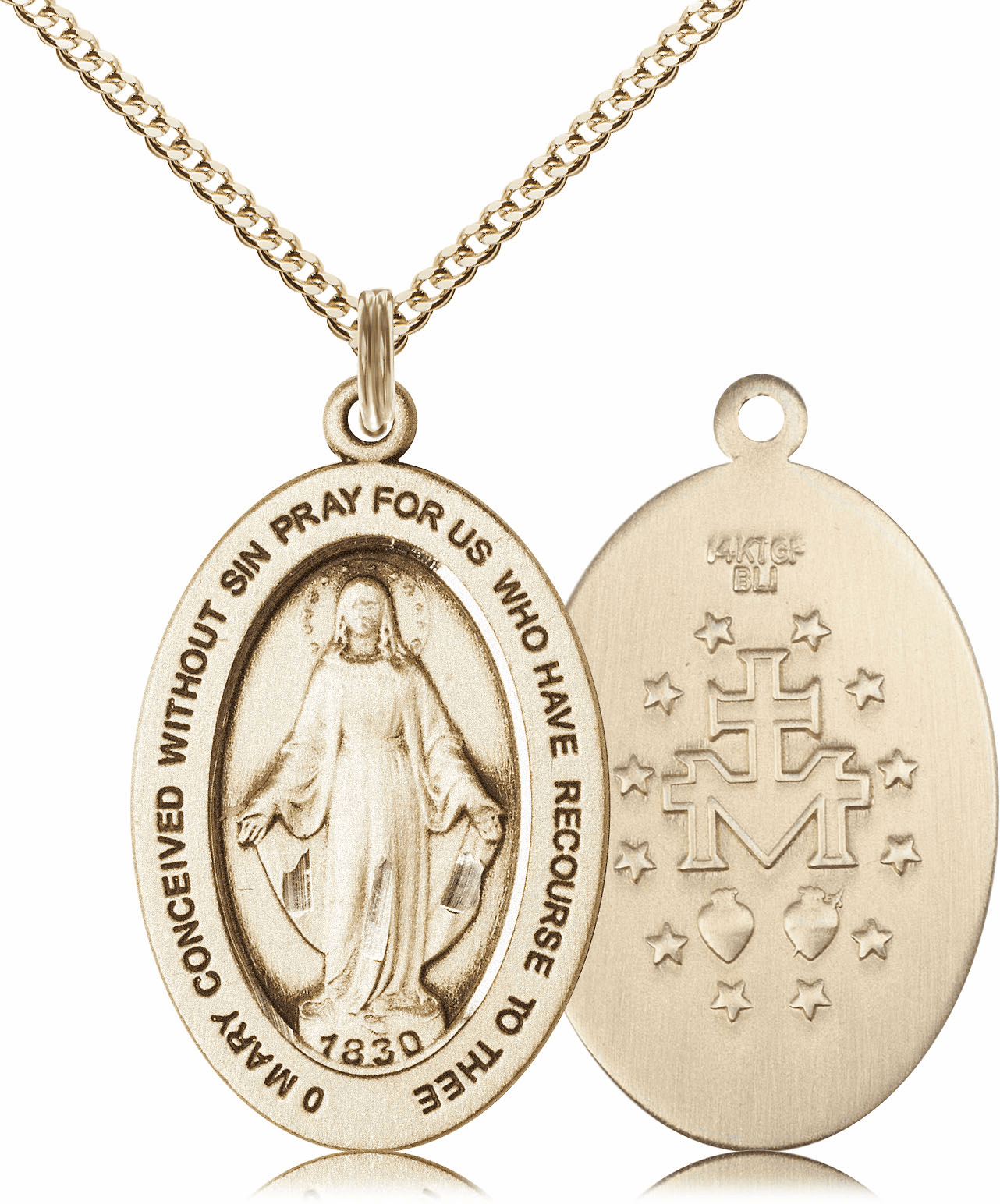 Bliss Mfg Miraculous Medal 14kt Gold-filled Necklace w/Chain
