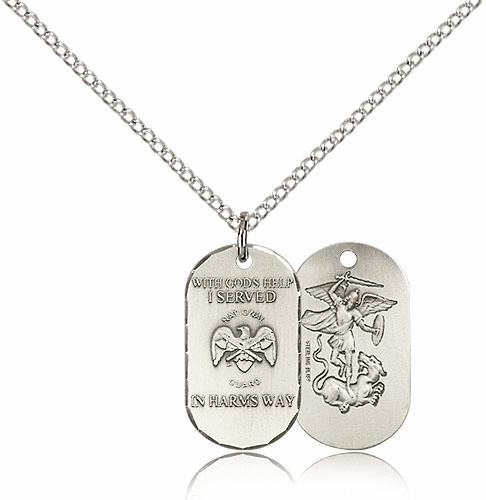Bliss Mfg National Guard Military Dog Tag Necklace