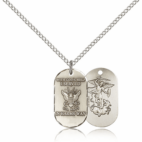 Bliss Mfg Navy Military Dog Tag Necklace