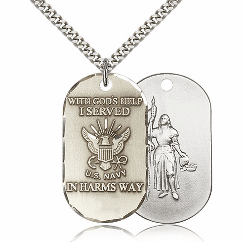 Bliss Mfg Military Navy St Joan of Arc Military Necklace