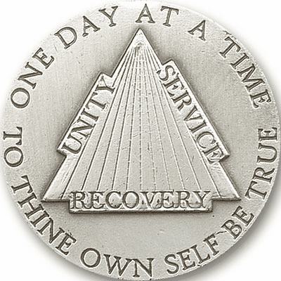 Bliss Mfg One Day at a Time Recovery Auto Visor Clip