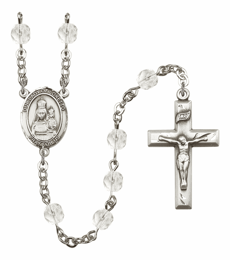 Bliss Mfg Our Lady Loretto April - Crystal Birthstone Rosary