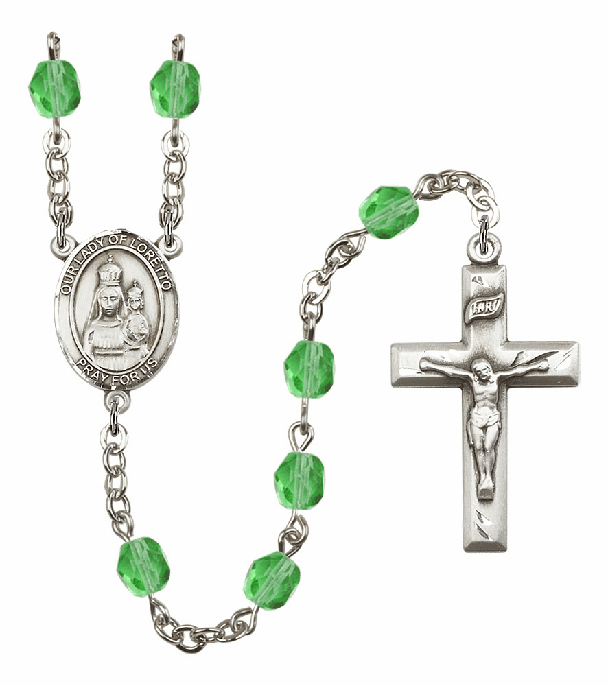 Bliss Mfg Our Lady Loretto August Peridot Birthstone Rosary