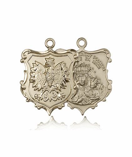 Bliss Mfg Our Lady of Czestochowa 14 Kt Gold Medal Pendant