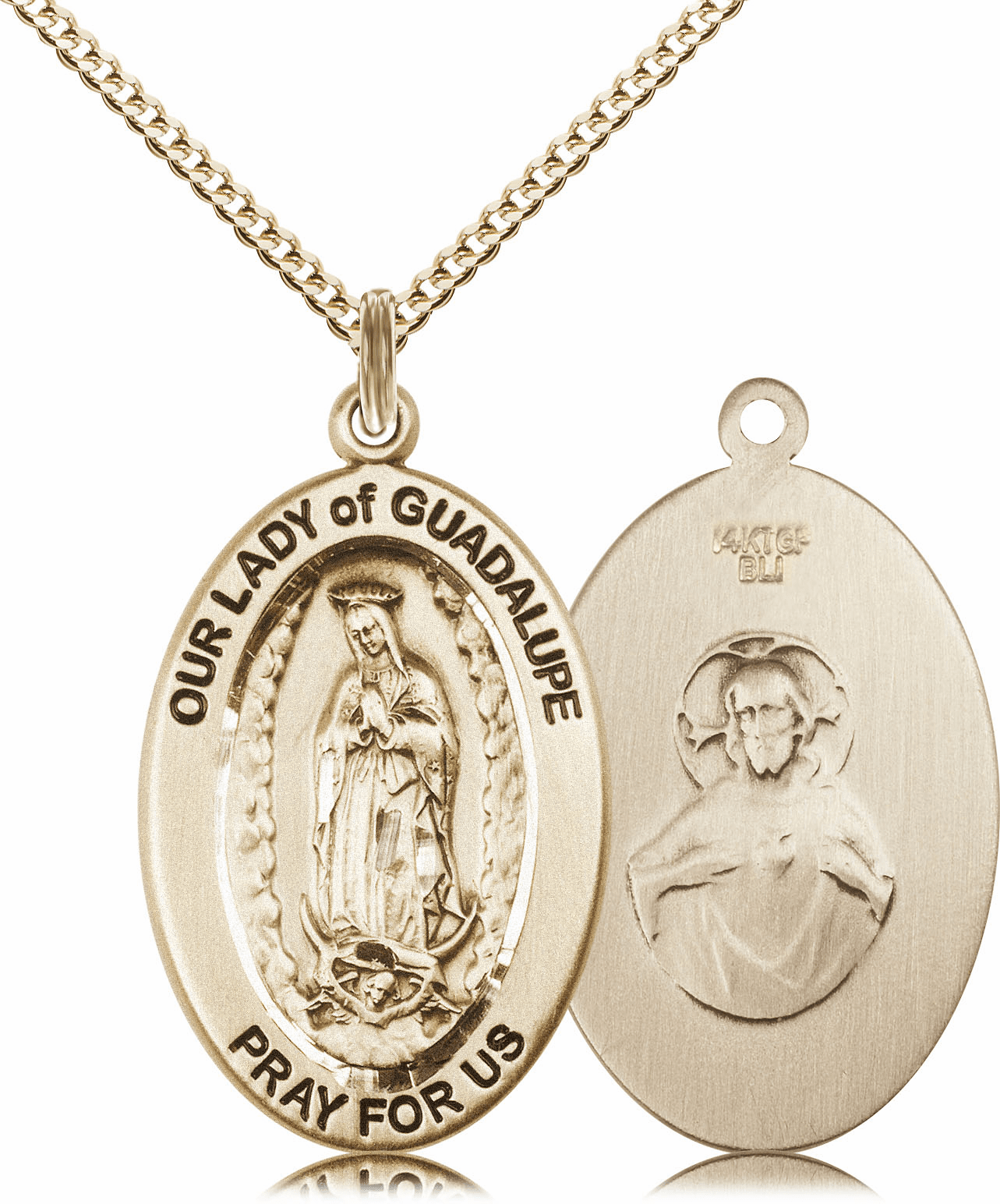 Bliss Mfg Our Lady of Guadalupe 14kt Gold-filled Medal Necklace w/Chain
