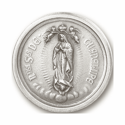 Bliss Mfg Our Lady of Guadalupe Round Auto Visor Clip