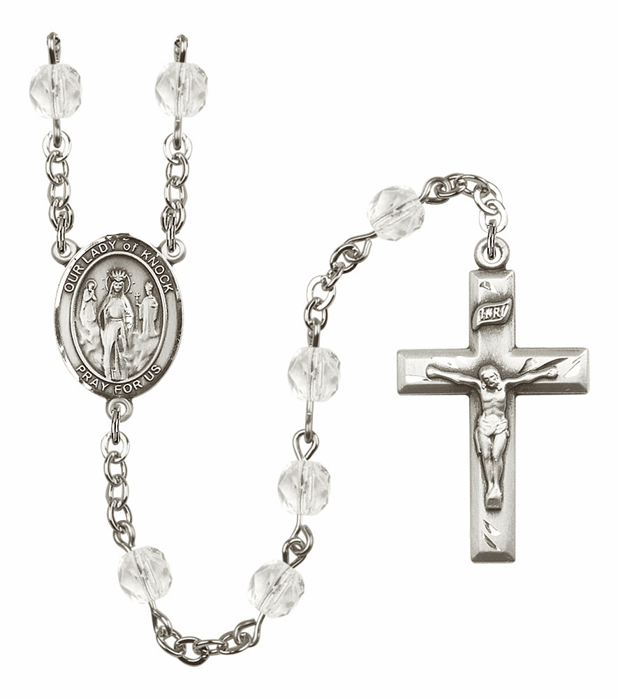 Bliss Mfg Our Lady of Knock April - Crystal Birthstone Rosary