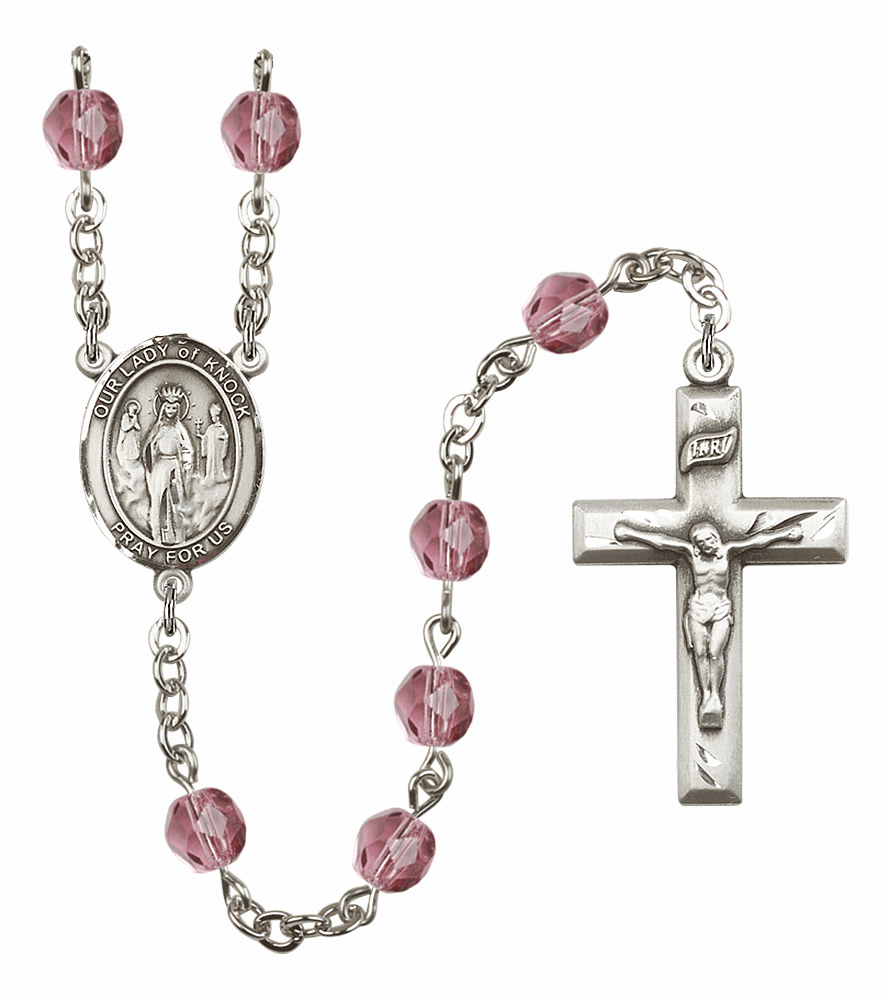 Bliss Mfg Our Lady of Knock February Amethyst Birthstone Rosary