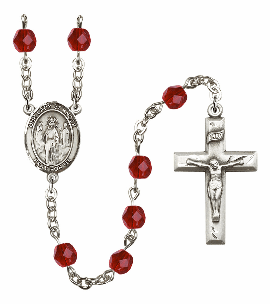 Bliss Mfg Our Lady of Knock July Ruby Birthstone Rosary