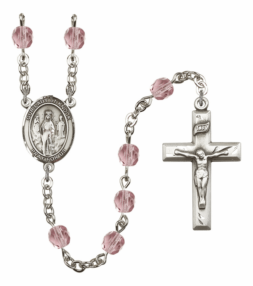 Bliss Mfg Our Lady of Knock June Lt Amethyst Birthstone Rosary