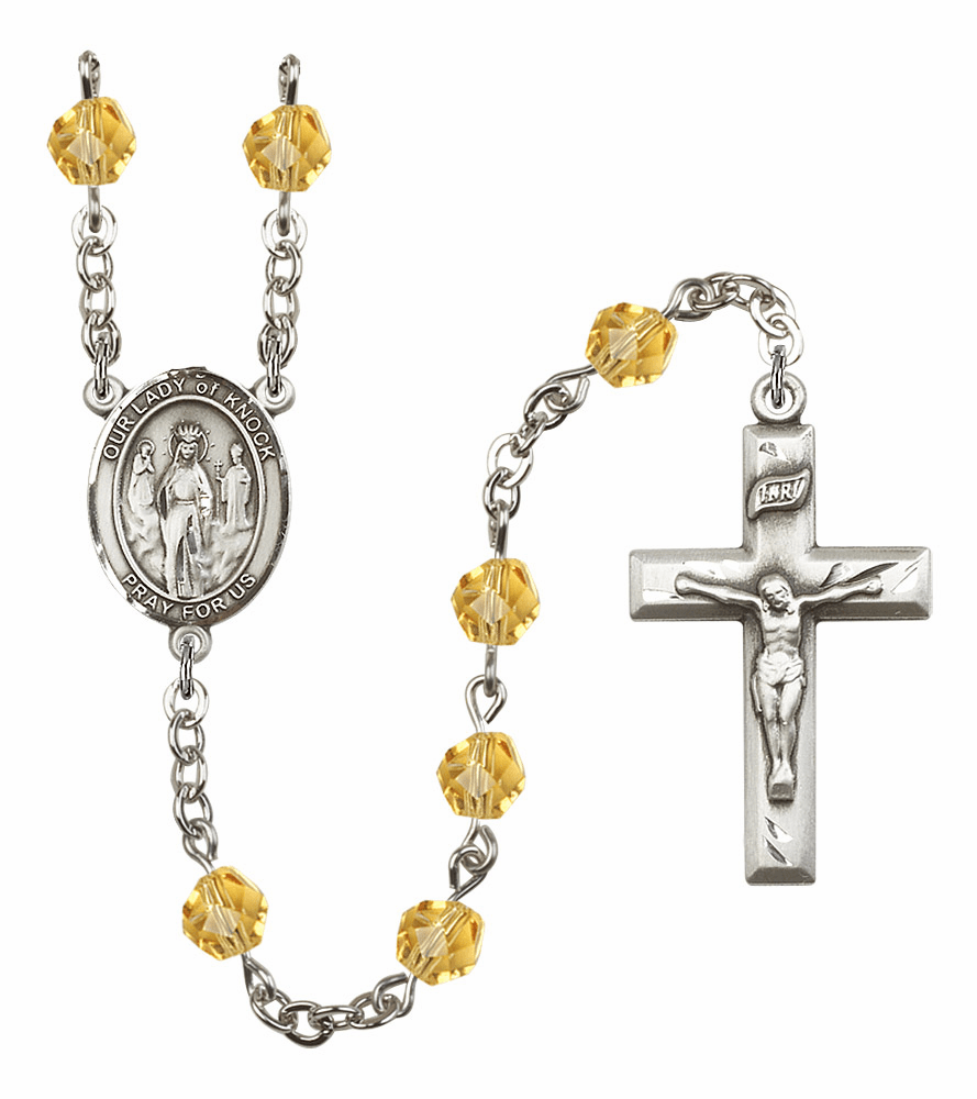 Bliss Mfg Our Lady of Knock November Topaz Birthstone Rosary