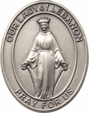 Bliss Mfg Our Lady of Lebanon Auto Visor Clip