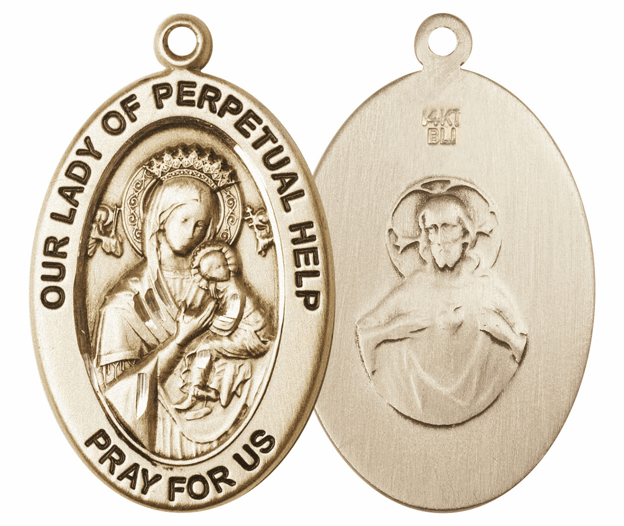 Bliss Mfg Our Lady of Perpetual Help 14kt Gold Medal Pendant