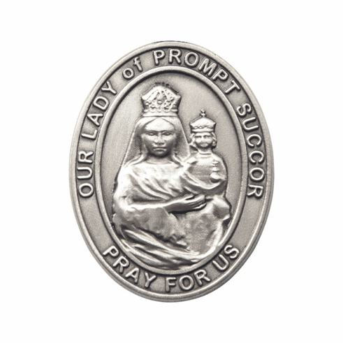 Bliss Mfg Our Lady of Prompt Succor Auto Visor Clip