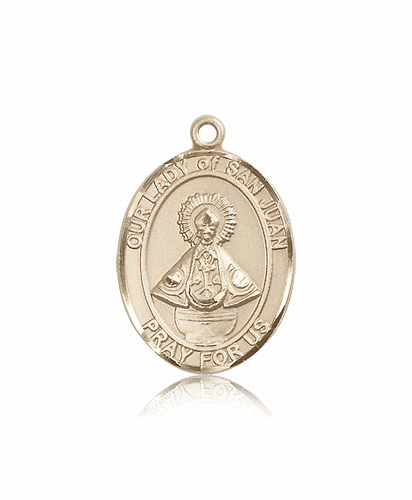 Bliss Mfg Our Lady of San Juan 14kt Gold Patron Medal Pendant