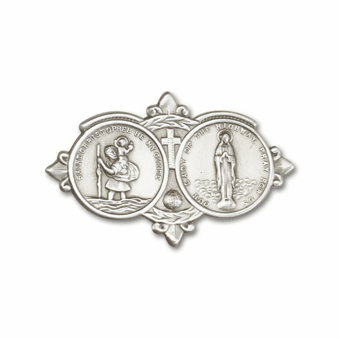 Bliss Mfg Our Lady of the Highway and St Christopher Auto Visor Clip