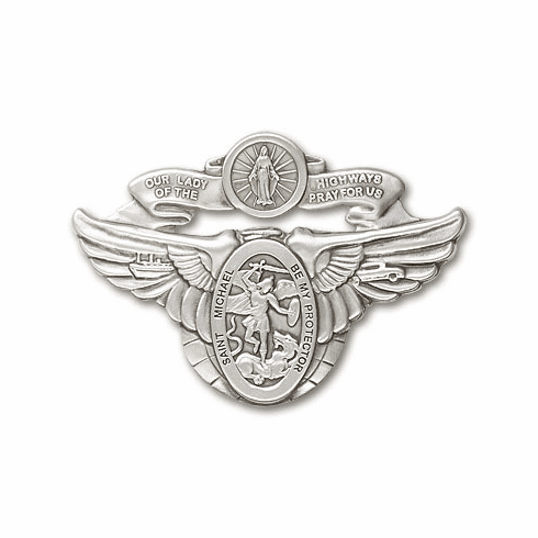Bliss Mfg Our Lady of the Highway and St Michael Auto Visor Clip