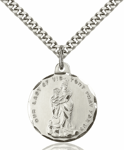Bliss O/L of Victory Medal Necklace