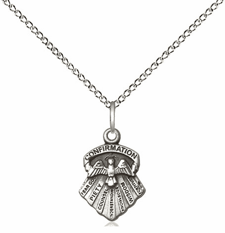 Bliss Mfg Pewter Seven Gifts of the Holy Spirit Medal Pendant Necklace
