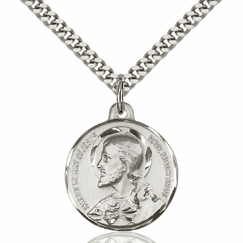 Bliss Sacred Heart Medal Necklace