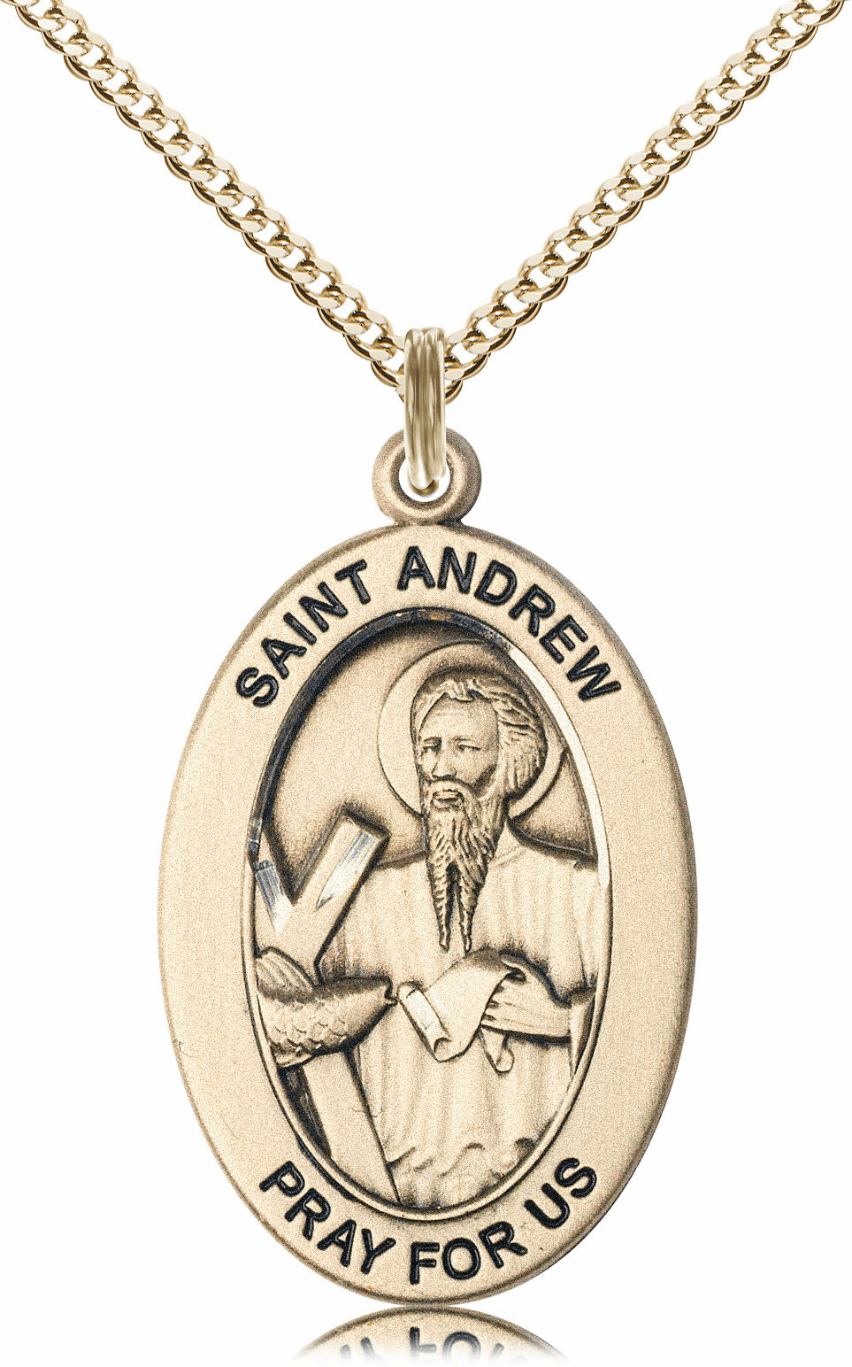 Bliss Mfg Saint Andrew the Apostle 14kt Gold-filled Medal Necklace w/Chain