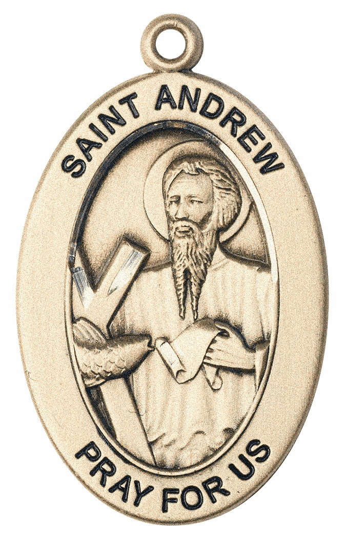 Bliss Mfg Saint Andrew the Apostle 14kt Gold Medal Pendant