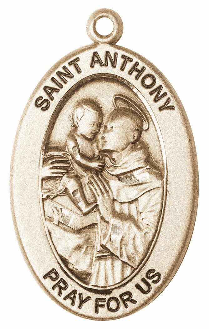 Bliss Mfg Saint Anthony of Padua 14kt Gold Medal Pendant