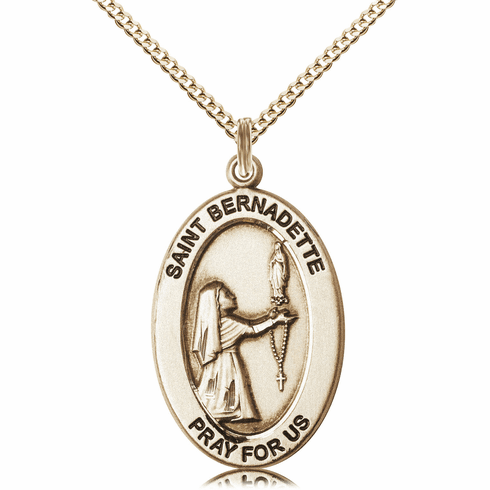 Bliss Mfg Saint Bernadette 14kt Gold-filled Medal Necklace w/Chain